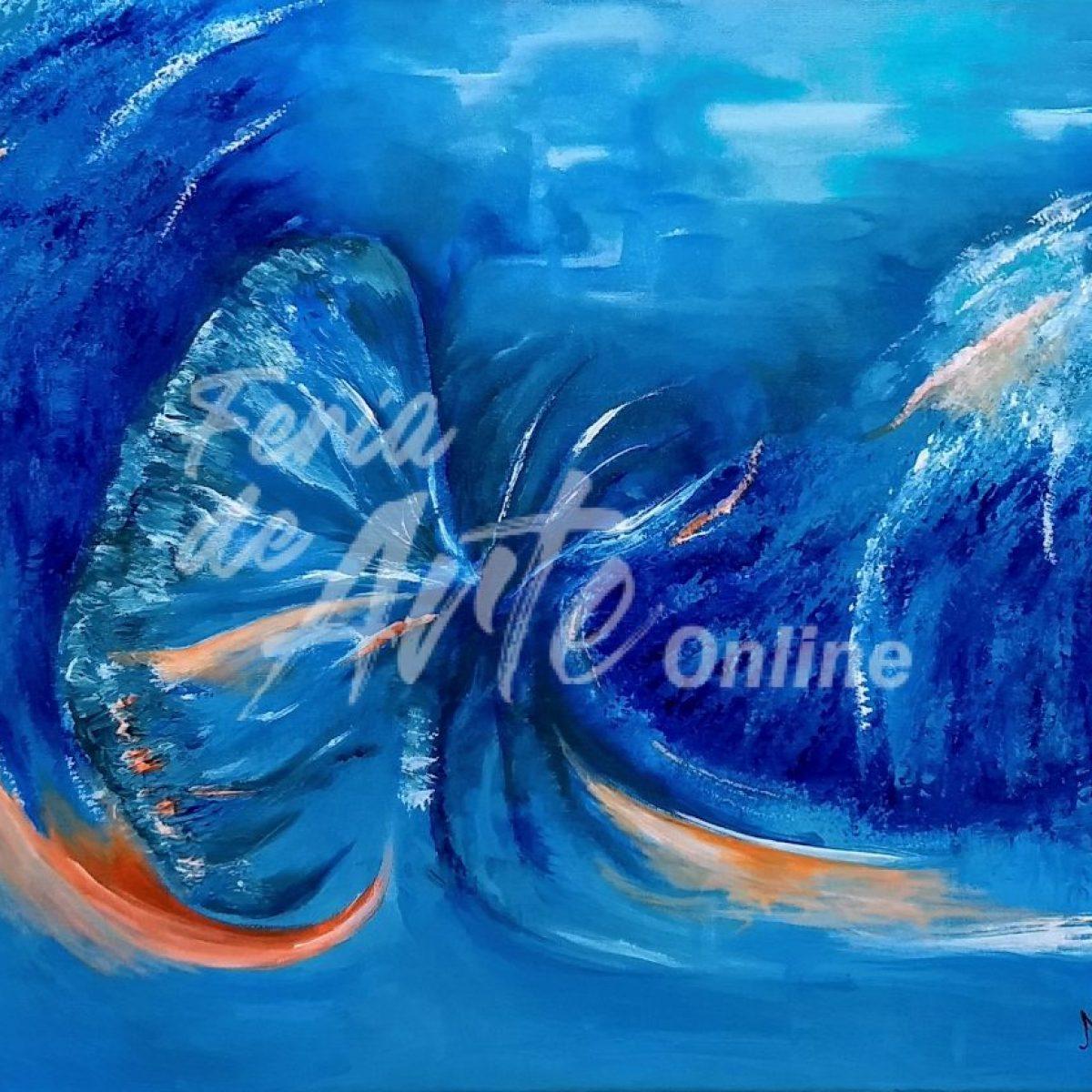 Mariposa en el mar